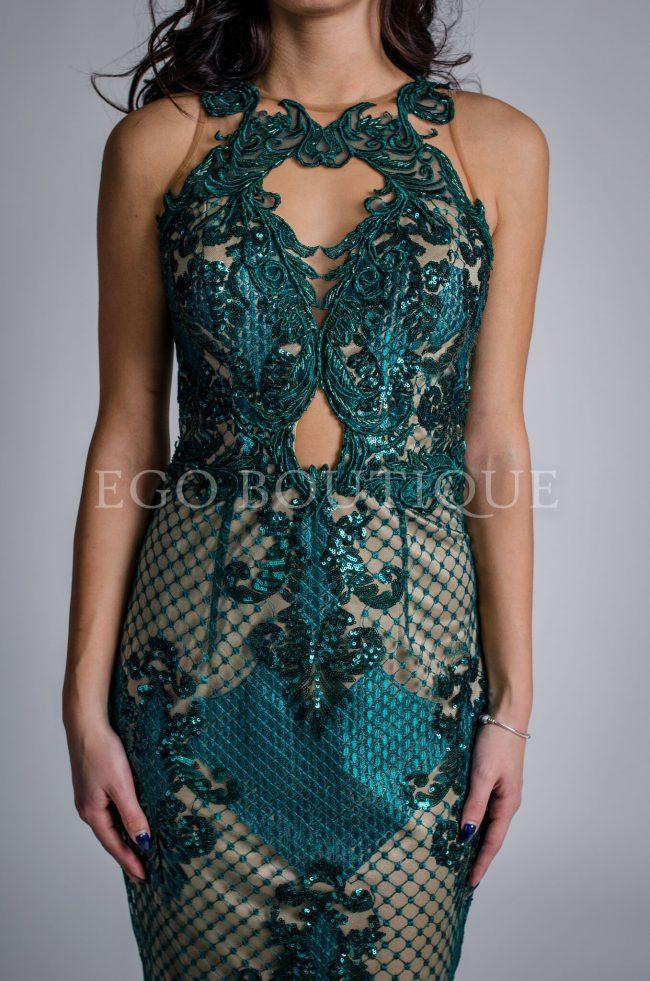 бална дантелена рокля