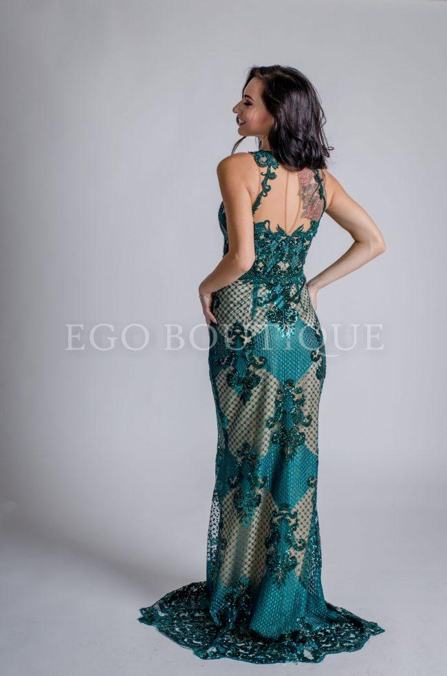 уникална зелена рокля