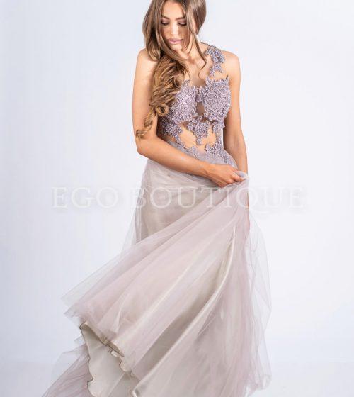 дълга абитюриентска тюлена рокля тип принцеса
