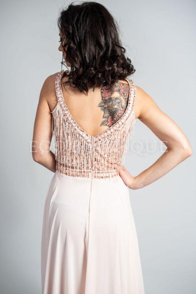 бутикова абитуриентска рокля в бледо розов цвят