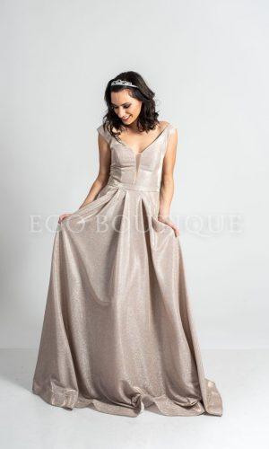 дълга бална рокля рокля в пепел от рози