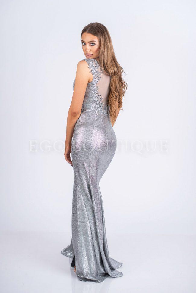 рокля за бал в сребро