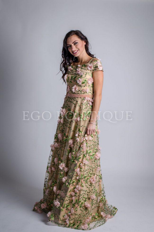 бална разкроена рокля