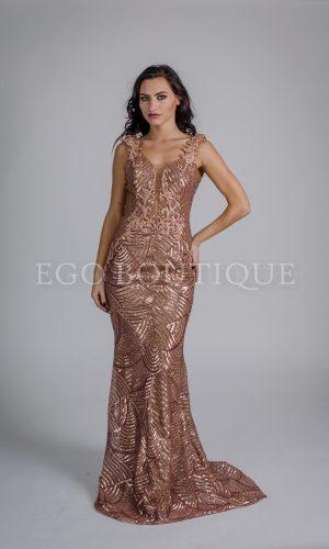 уникална златна абитуриентска рокля тип русалка