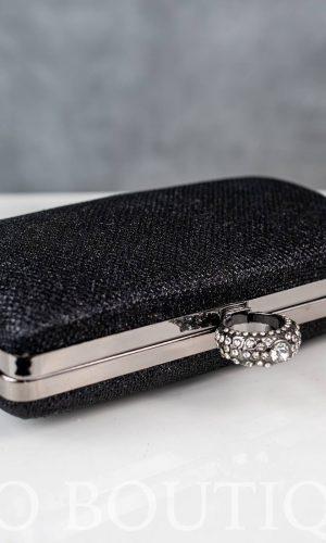 малка дамска черна чанта с дълга дръжка