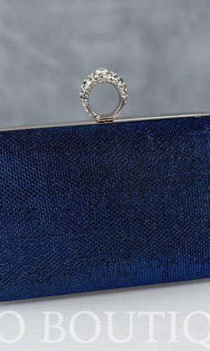 абитуриентска синя чанта с метален обков