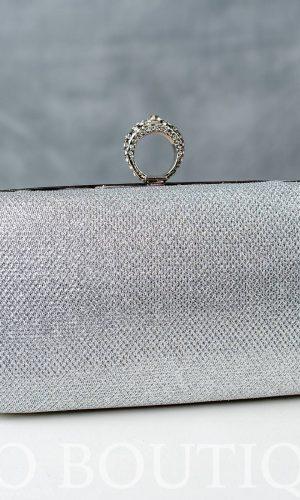 уникална дамска абитуриентска чанта в сребърна мрежа