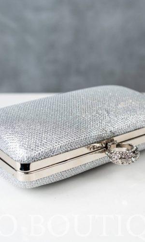 малка дамска сребърна чанта