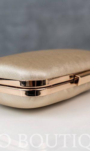 малка абитуриентска чанта в тъмно злато