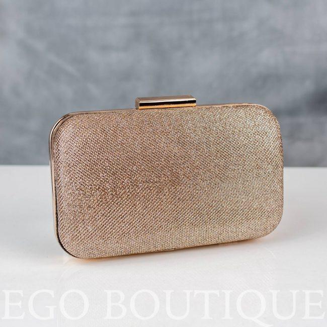 абитуриентска златна чанта галена с метален обков