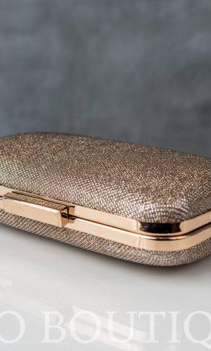 бална златна чанта със златен обков