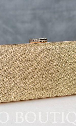 абитуриентска златна чанта с метален обков глория