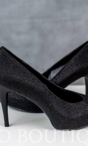 бални дамски обувки от черна мрежа