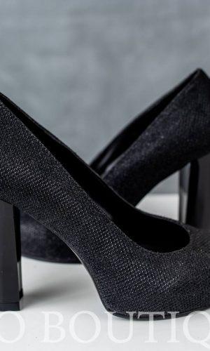 черни бални обувки с мека стелка и комфортен ток