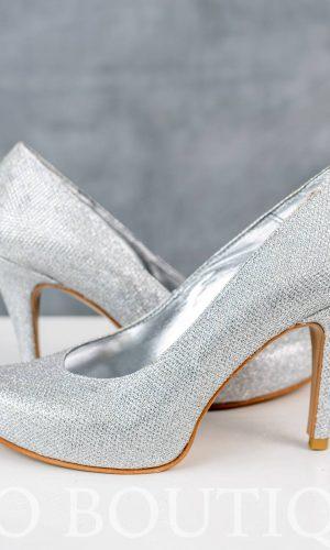 сребърни дамски обувки с комфортен ток
