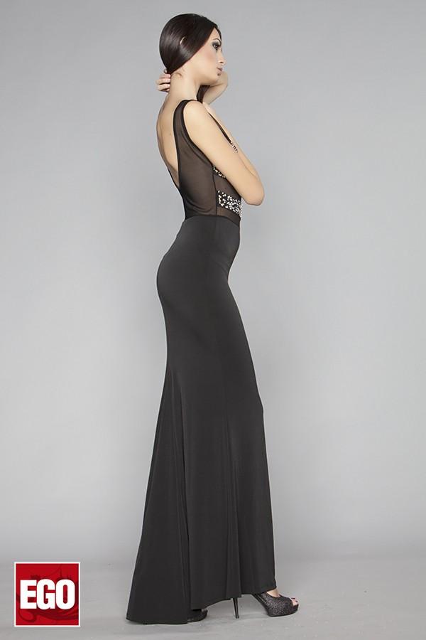 официаална рокля по тялото в черно