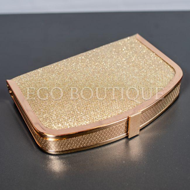 дамска бална чанта от златна мрежа