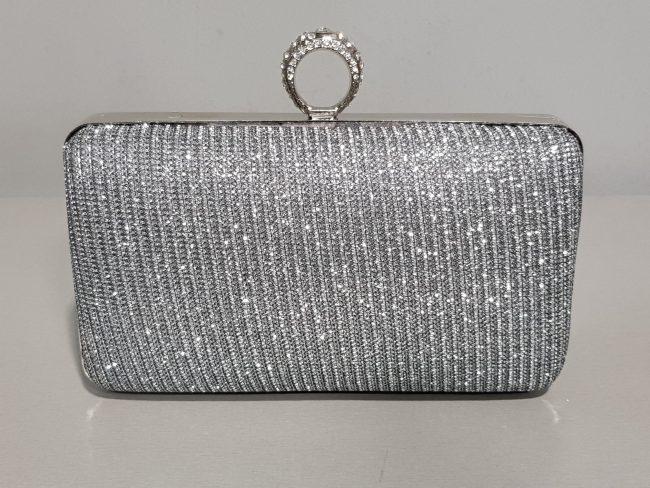 абитиуриентска малка чанта в тъмно сребро