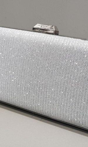 бална дамска сребърна чанта