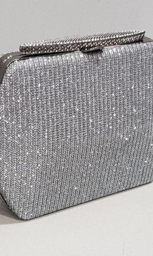 малка абитуриентска чанта в цвят графит