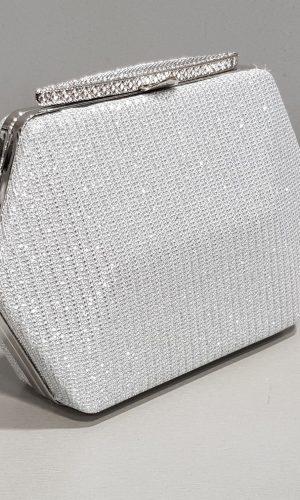бутикова сребърна абитуриентска чанта с дълга дръжка