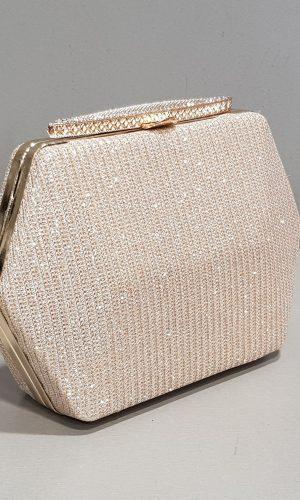 бална златна чантичка с уникална форма