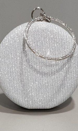 кръгла сребърна абитуриентска чанта