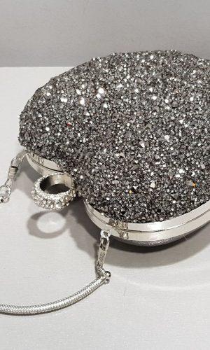 дамска малка бална брокатена чанта